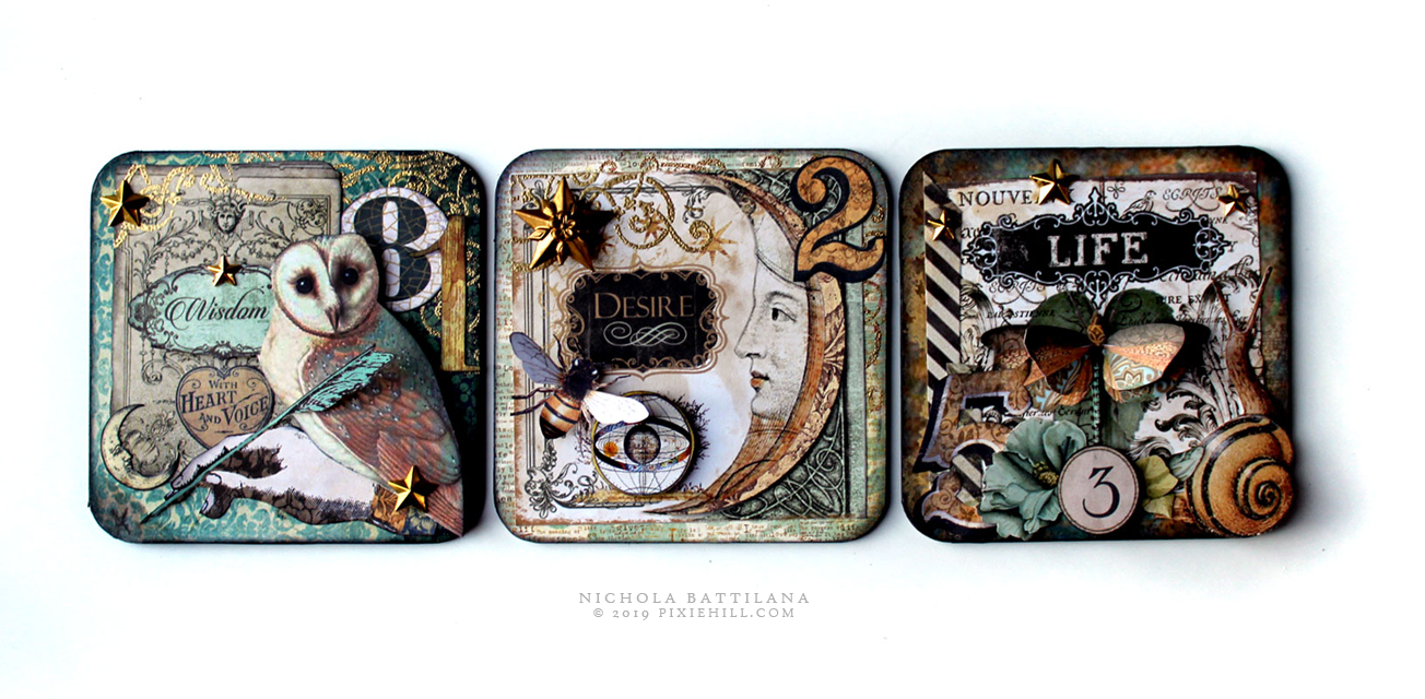 Pixie Hill: Alchemy Coasters and Coins for AlphaStamps