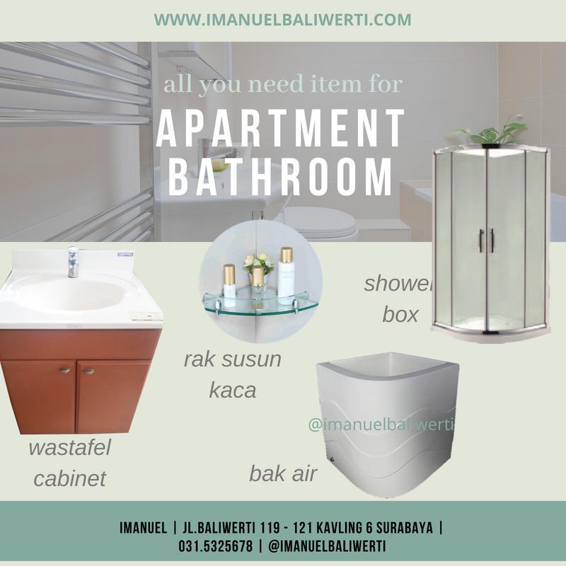 tips kamar mandi apartemen jual interior bathroom IMANUEL baliwerti surabaya