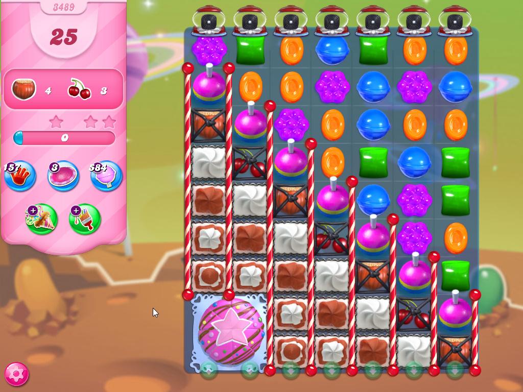 Candy Crush Saga level 3489