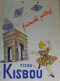 publicité, pub 1954, publicité tissu Kisbou 1954, publicité kisbou 1954