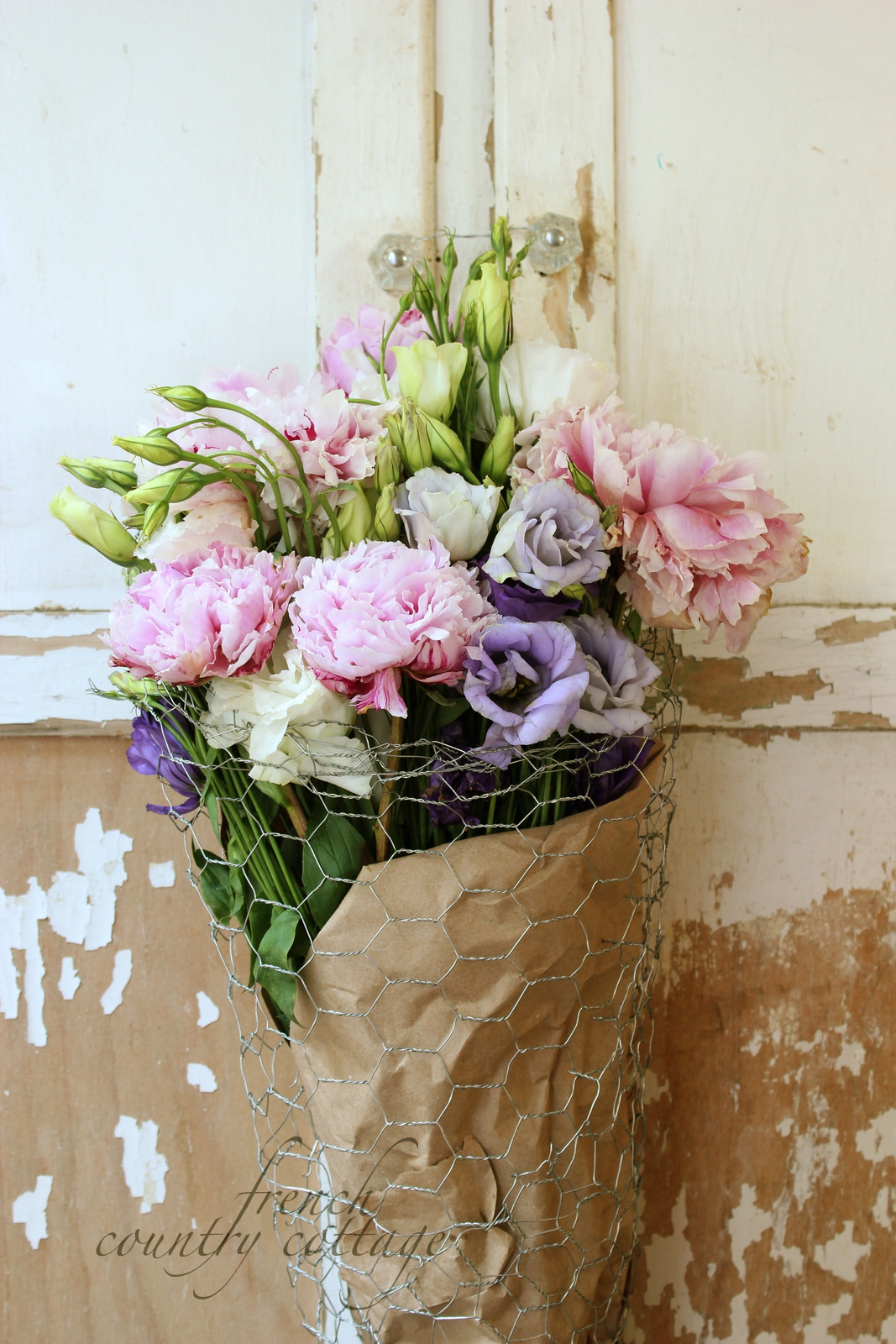 DIY Wire flower basket   FRENCH COUNTRY COTTAGE