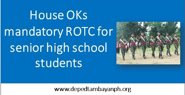 House OKs mandatory ROTC for senior high school students