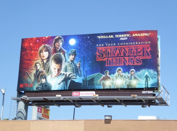 Stranger Things 2017 Emmy billboard