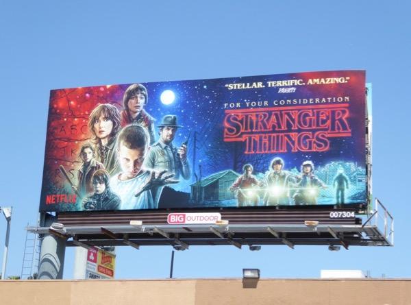 Stranger Things 2017 Emmy billboard