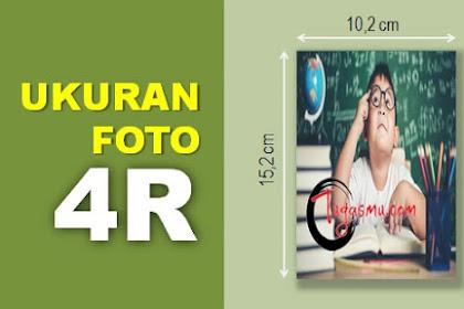 Ukuran Foto 4R dalam MM, CM, Inch dan Pixel Berapa?