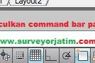 Cara memunculkan command bar autocad yang hilang