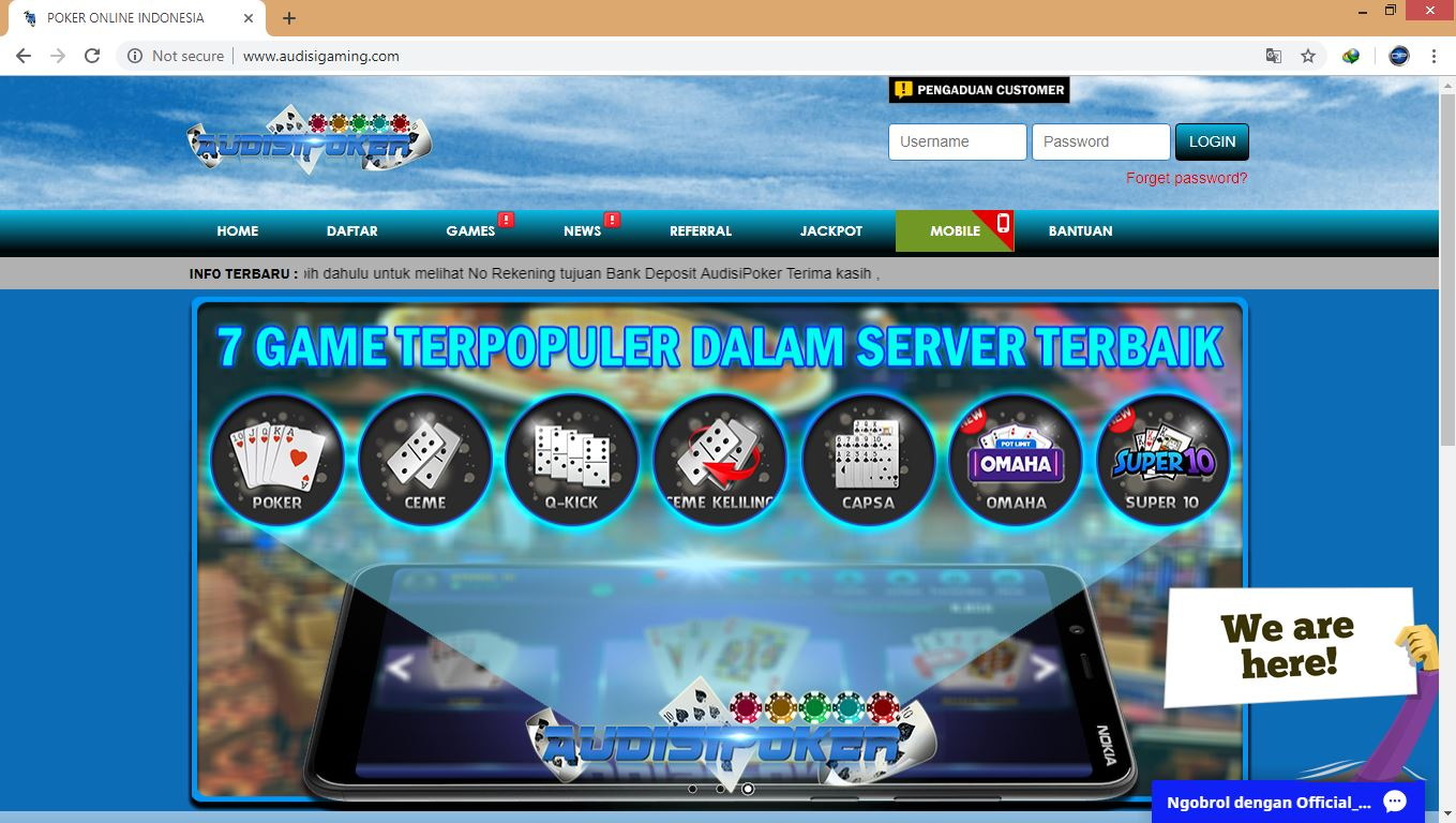 Situs Poker Terpercaya Idn Audisipoker Agen Poker Uang Asli Judi Kartu Online