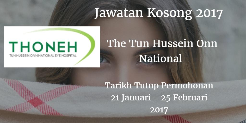 Jawatan Kosong The Tun Hussein Onn National 21 januari - 25 Februari 2017