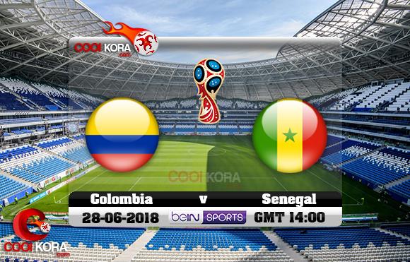 مشاهدة مباراة كولومبيا والسنغال اليوم 28-6-2018 بي أن ماكس كأس العالم 2018