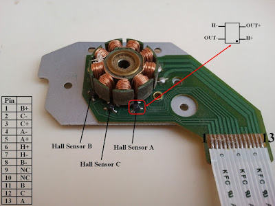 CD-ROM DVD-ROM Brushless DC motor pin configuration PIC16F877A L293D