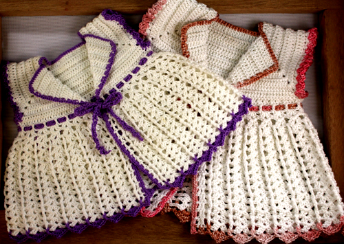 Crochet a lovely baby lace jacket - Tutorial