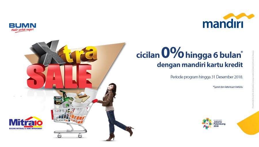 Bank Mandiri - Promo Cicilan 0% s.d 6 Bulan di Mitra10 (s.d 31 Des 2018)