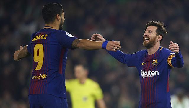 Luiz Suarez & Lionel Messi