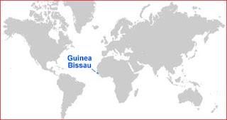 Gambar Peta letak Guinea Bissau