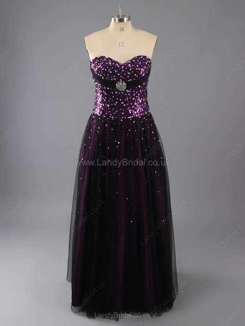 Princess Tulle Sweetheart Floor-length Beading Prom Dresses