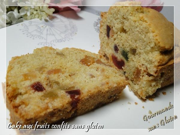 Cake aux fruits confits sans gluten