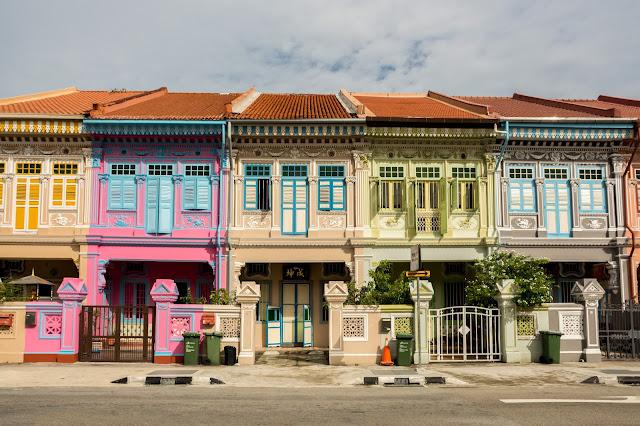 singapur, barvy, budovy, Joo Chiat Road, cestování