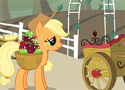 Applejack recolecta manzanas