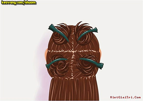 cách phân chia tóc khi nhuộm