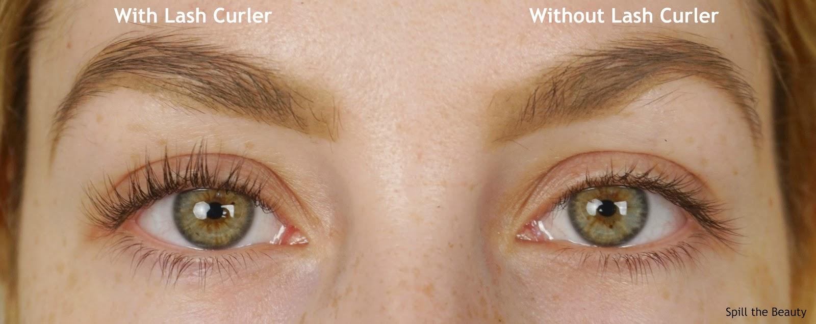 tweezerman rose gold eyelash curler review before and after