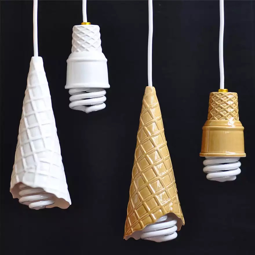 Ice-cream cone lamp
