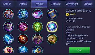Concentrated Energy Mobile Legends