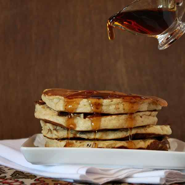 Almond Butter Pancakes With Dark Chocolate