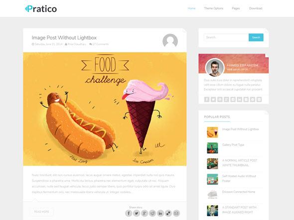 pratico minimal blogger template, bedava blogger teması, ücretsiz blogger teması, minimal temalar