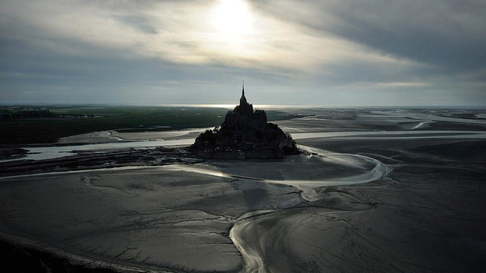 44. Mont-Saint-Michel, France - 50 Stunning Aerials That Will Make You See the World in New Ways (PHOTOS)