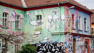 Lots of graffity at the Metelkova Art Center