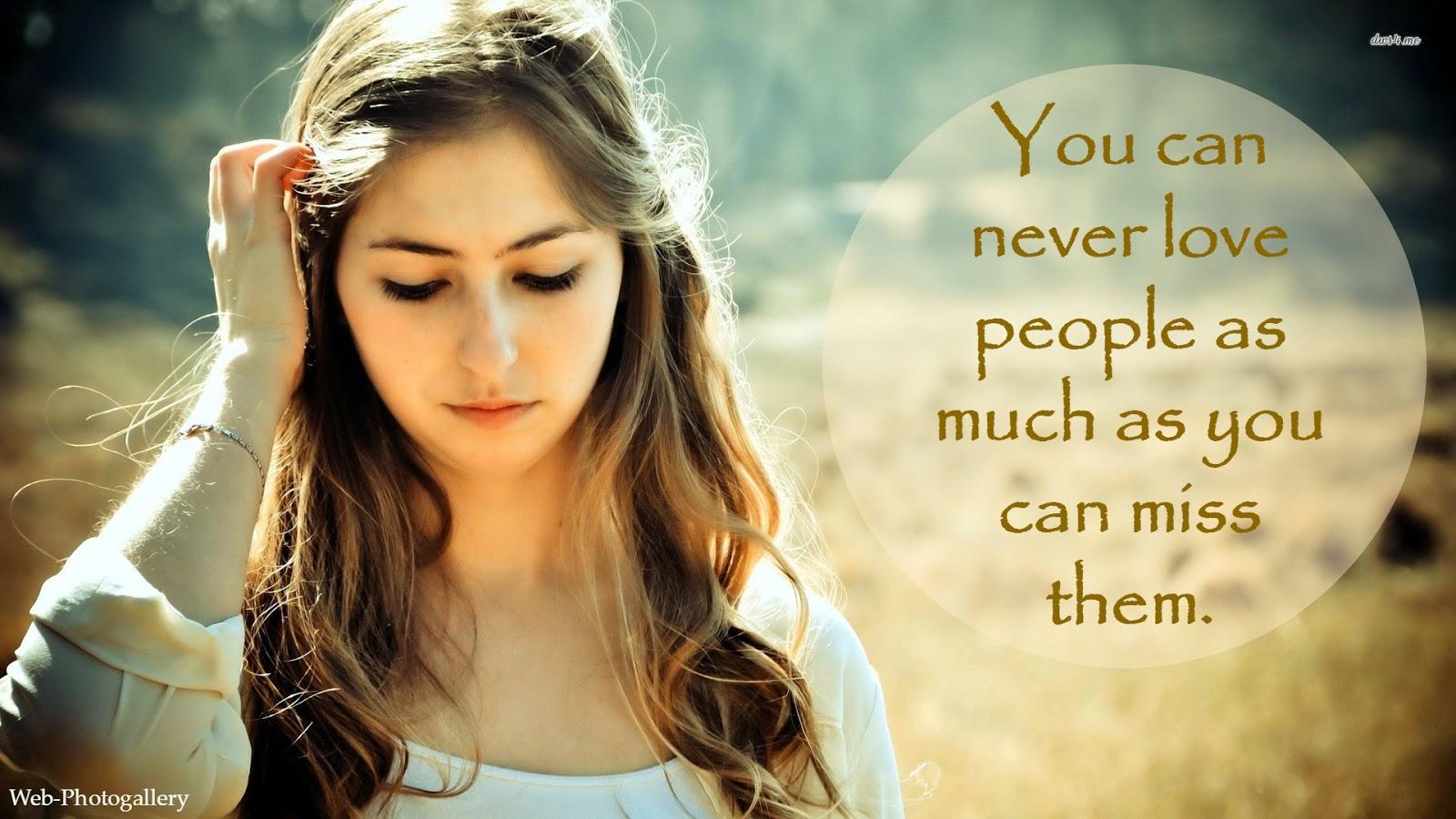 Beautiful Sad Love Quotes Full HD Wallpapers   Web-Photo ...