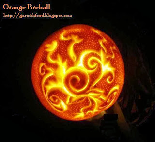 orange carving lantern