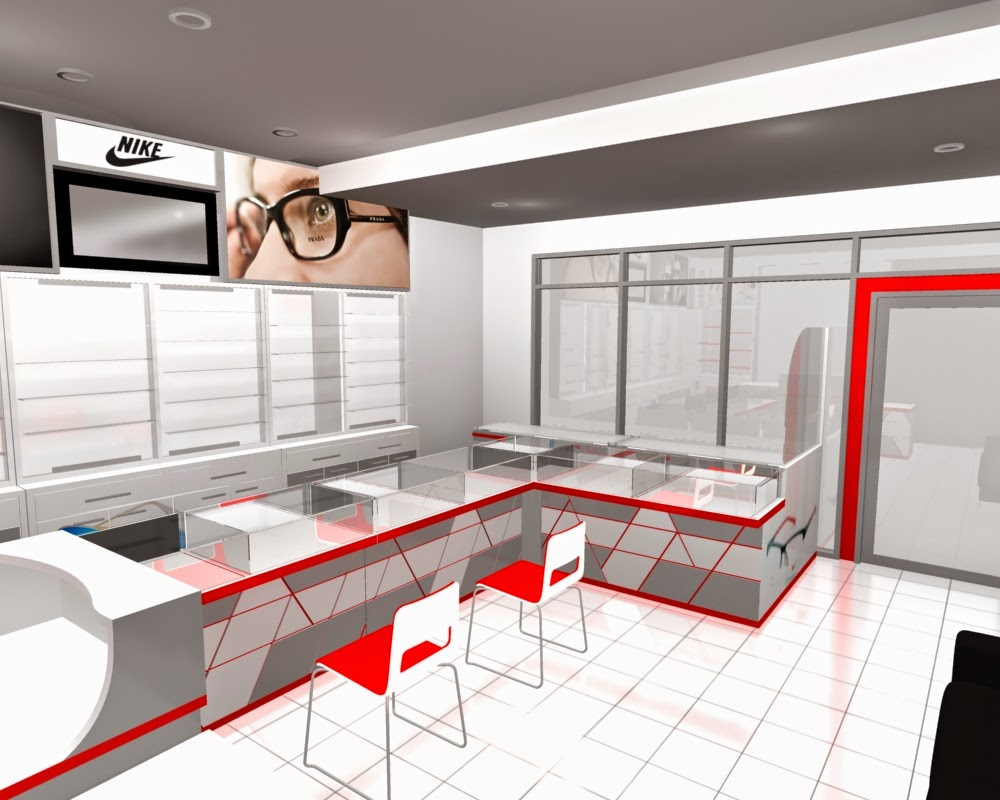desain 3d Etalase Kacamata dan Interior Untuk Optik - Semarang 07