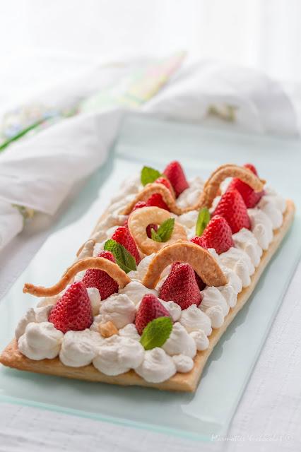 Лесна тарта с ягоди / Tarte aux fraises facile
