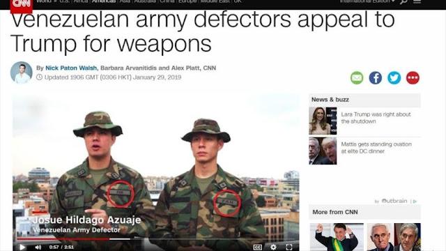 Militares venezolanos entrevistados por CNN resultan ser falsos
