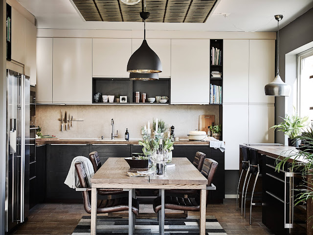 skandynawska kuchnia, kuchnia biało-czarna