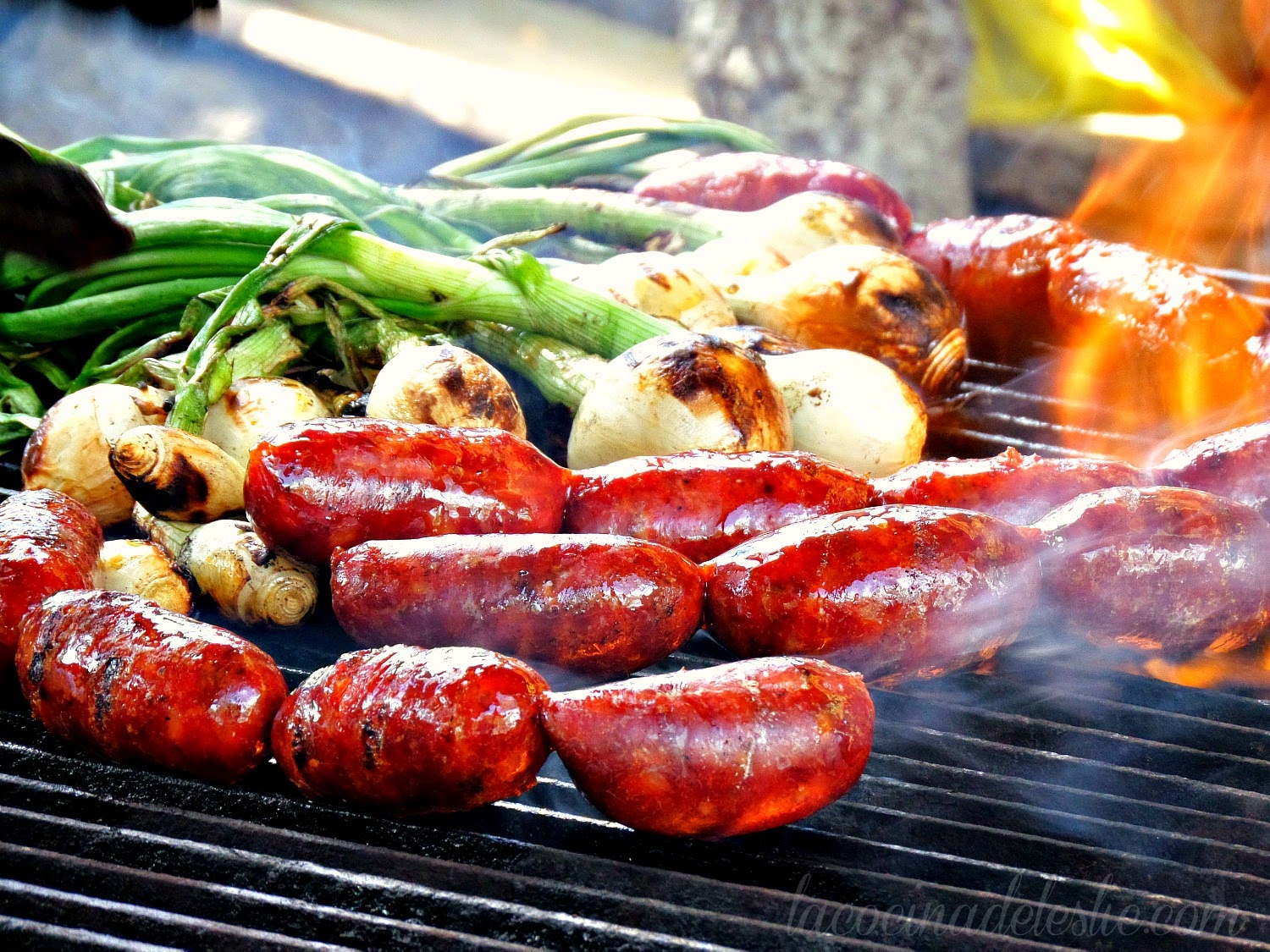 Grilled Chorizo & Onions - lacocinadeleslie.com
