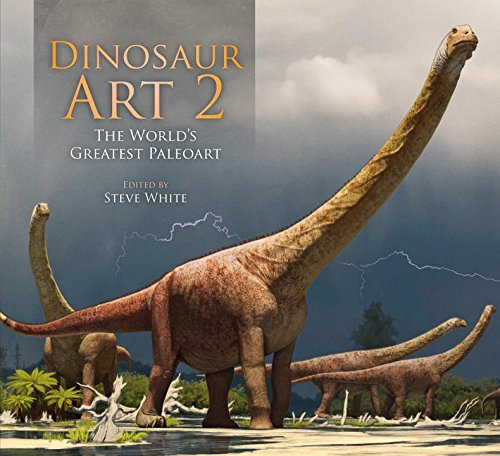 Cover for Steve White's book, Dinosaur Art 2