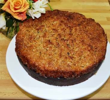 Apple And Date Cake With Coconut Topping
