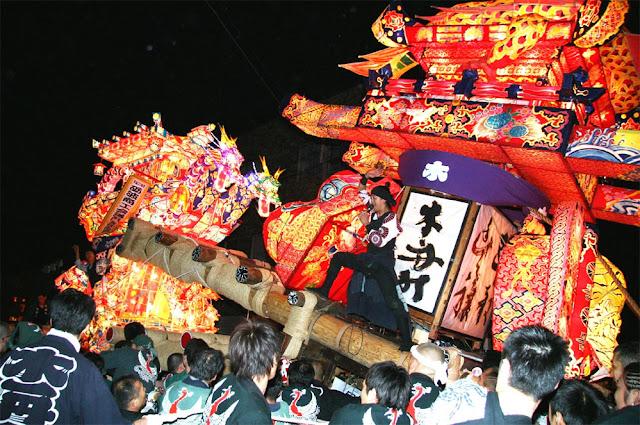 Tonami Yotaka Matsuri in Tonami City, Toyama Pref.