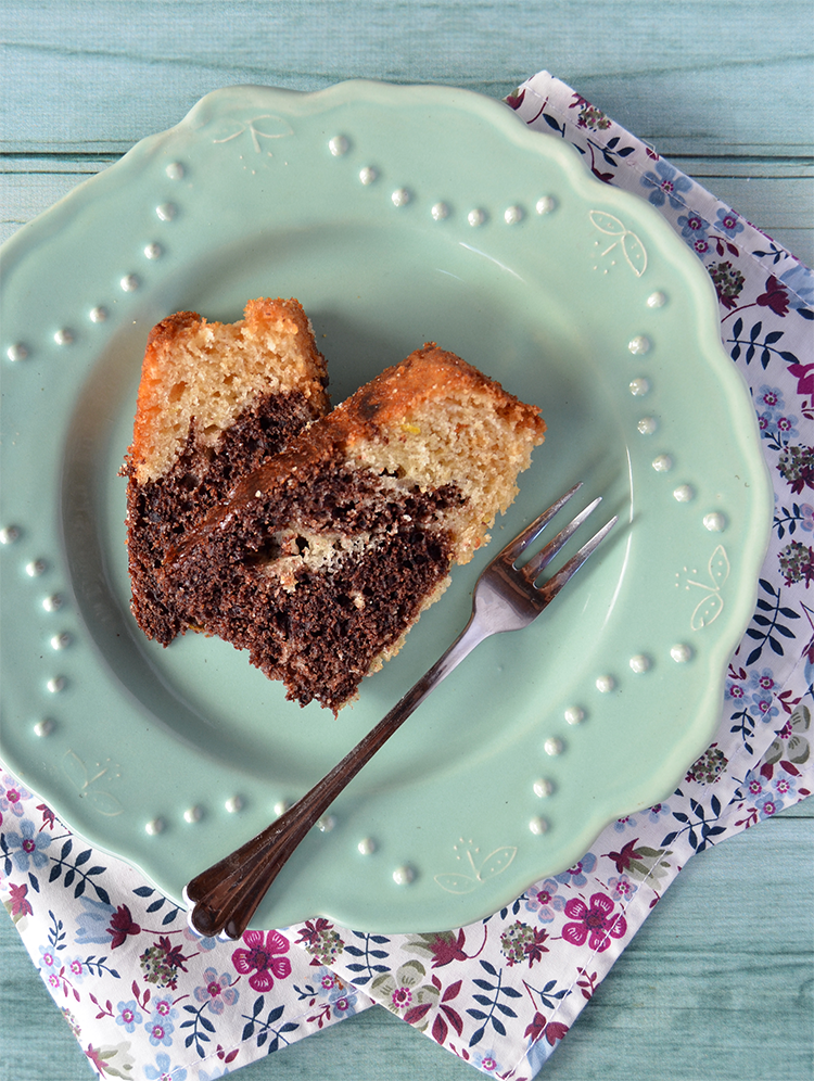 Torta marmolada de limón y chocolate