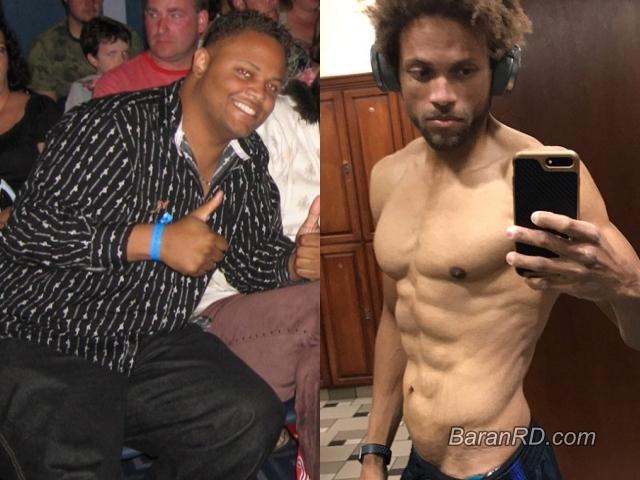 Anthony Brown, antes y después 88 kilos (194 libras)
