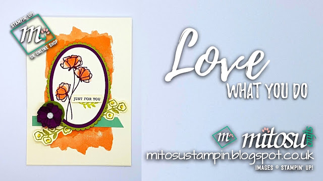Stampin' Up! Love What You Do SU Card Idea order craft supplies from Mitosu Crafts UK Online Shop