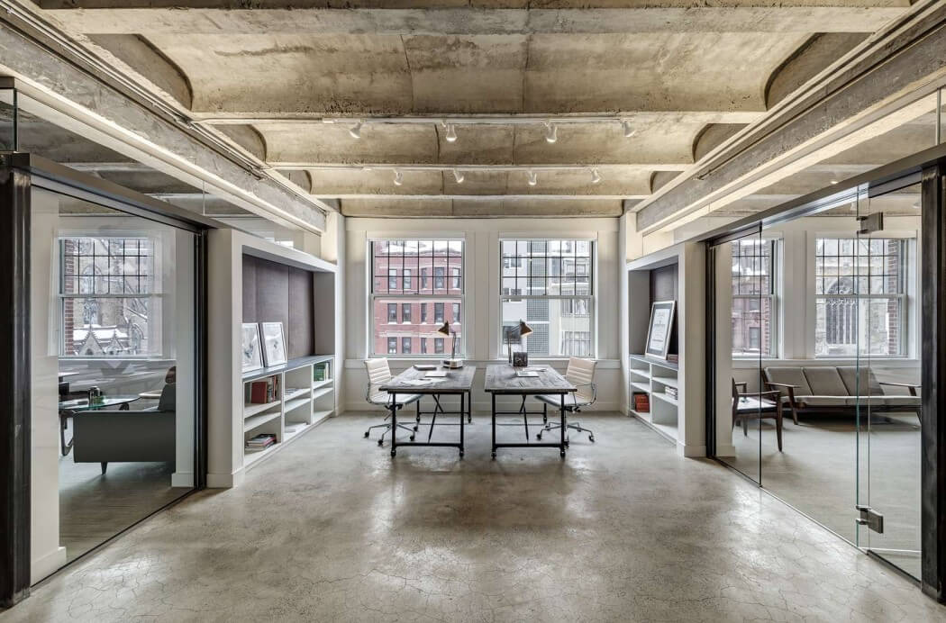 Decoraci N De Oficina Industrial Con Toques Modernos En Boston