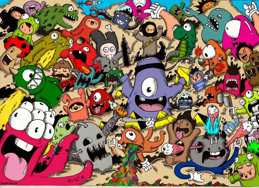 430+ Gambar Keren Doodle Gratis Terbaik