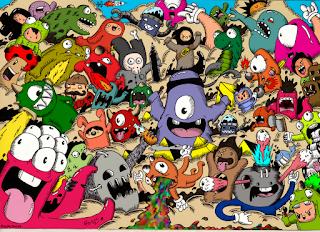 Inilah desain kaos distro doodle keren terbaru