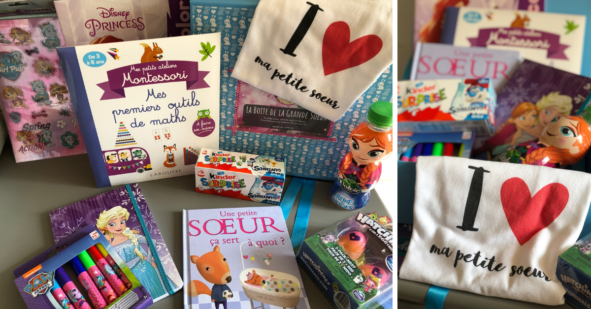 Happy New Mom Box De Grande Soeur Cadeau Pour La Maternite