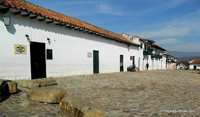 Casa Quintero, polo de restaurantes no Centro Histórico de Villa de Leyva, Colômbia