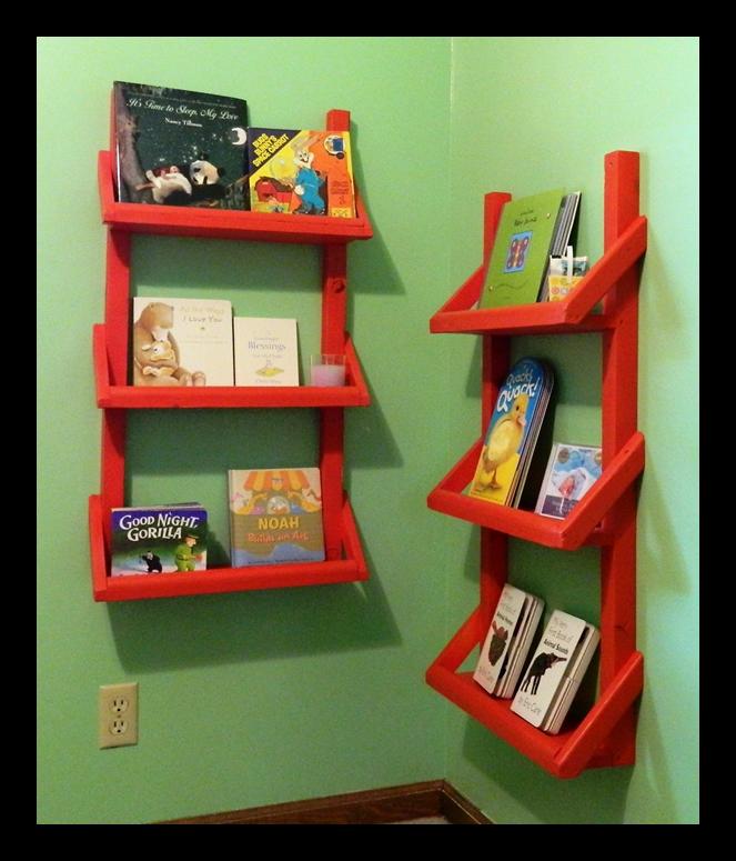 Crafty Kate: Nursery Bookshelves