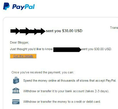 first time dapat USD ; payment blogger